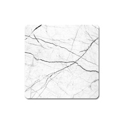 White Background Pattern Tile Square Magnet