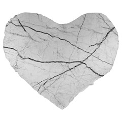 White Background Pattern Tile Large 19  Premium Heart Shape Cushions by Celenk
