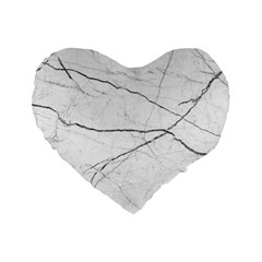 White Background Pattern Tile Standard 16  Premium Flano Heart Shape Cushions