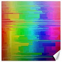 Colors Rainbow Chakras Style Canvas 12  X 12   by Celenk