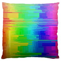 Colors Rainbow Chakras Style Large Cushion Case (two Sides) by Celenk