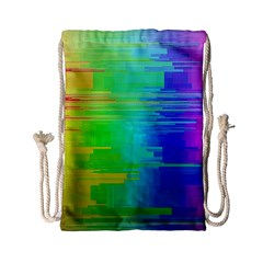 Colors Rainbow Chakras Style Drawstring Bag (small) by Celenk
