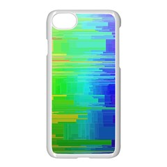 Colors Rainbow Chakras Style Apple Iphone 8 Seamless Case (white) by Celenk