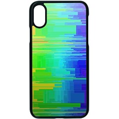 Colors Rainbow Chakras Style Apple Iphone X Seamless Case (black) by Celenk