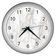 Background Modern Smoke Design Wall Clocks (silver)  by Celenk