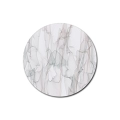 Background Modern Smoke Design Rubber Coaster (round)  by Celenk