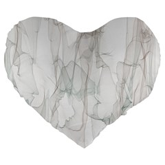 Background Modern Smoke Design Large 19  Premium Heart Shape Cushions by Celenk