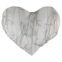 Background Modern Smoke Design Large 19  Premium Flano Heart Shape Cushions by Celenk