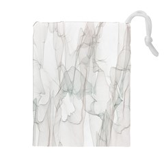 Background Modern Smoke Design Drawstring Pouches (extra Large) by Celenk