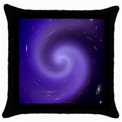 Spiral Lighting Color Nuances Throw Pillow Case (black) by Celenk
