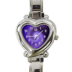 Spiral Lighting Color Nuances Heart Italian Charm Watch by Celenk