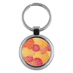 Abstract Art Background Colorful Key Chains (round)  by Celenk
