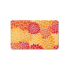 Abstract Art Background Colorful Magnet (name Card) by Celenk
