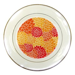 Abstract Art Background Colorful Porcelain Plates by Celenk