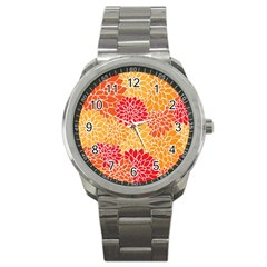Abstract Art Background Colorful Sport Metal Watch by Celenk