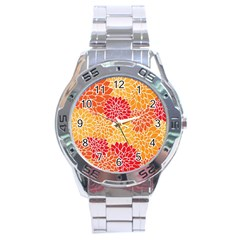 Abstract Art Background Colorful Stainless Steel Analogue Watch by Celenk