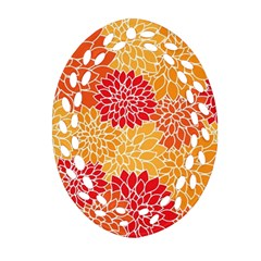 Abstract Art Background Colorful Oval Filigree Ornament (two Sides) by Celenk