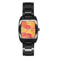 Abstract Art Background Colorful Stainless Steel Barrel Watch by Celenk