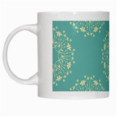 Floral Vintage Royal Frame Pattern White Mugs