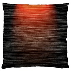 Background Red Orange Modern Large Flano Cushion Case (two Sides) by Celenk