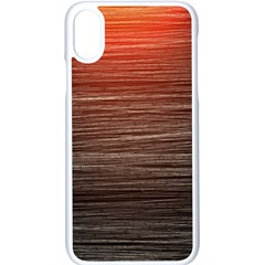 Background Red Orange Modern Apple Iphone X Seamless Case (white) by Celenk