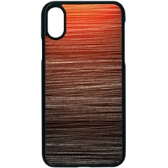 Background Red Orange Modern Apple Iphone X Seamless Case (black) by Celenk