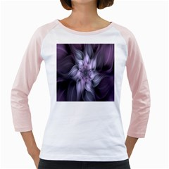 Fractal Flower Lavender Art Girly Raglans