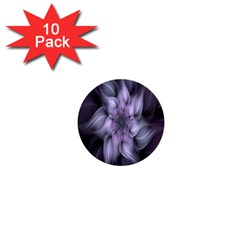 Fractal Flower Lavender Art 1  Mini Buttons (10 Pack)  by Celenk