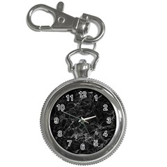 Black Texture Background Stone Key Chain Watches by Celenk
