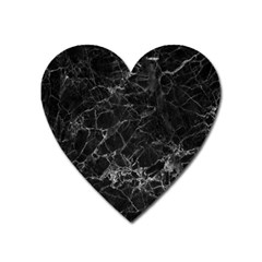 Black Texture Background Stone Heart Magnet by Celenk