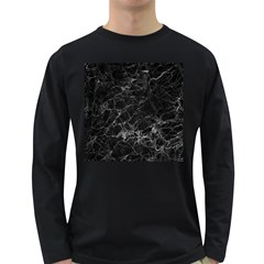 Black Texture Background Stone Long Sleeve Dark T Shirts