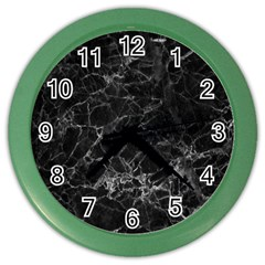 Black Texture Background Stone Color Wall Clocks