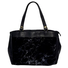 Black Texture Background Stone Office Handbags