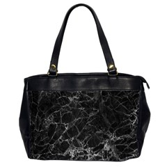 Black Texture Background Stone Office Handbags (2 Sides)  by Celenk