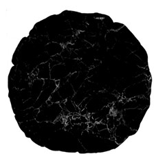 Black Texture Background Stone Large 18  Premium Round Cushions by Celenk