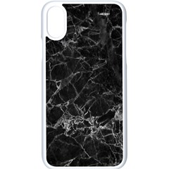 Black Texture Background Stone Apple Iphone X Seamless Case (white) by Celenk