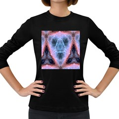 Sacred Geometry Mandelbrot Fractal Women s Long Sleeve Dark T Shirts