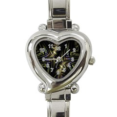 Fractal Braids Texture Pattern Heart Italian Charm Watch