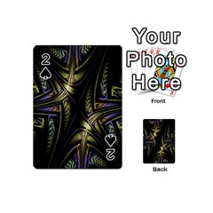 Fractal Braids Texture Pattern Playing Cards 54 (mini)  by Celenk