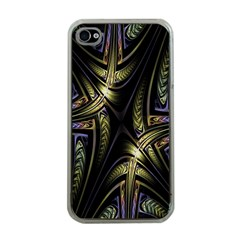Fractal Braids Texture Pattern Apple Iphone 4 Case (clear) by Celenk