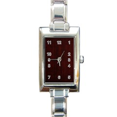 Grunge Brown Abstract Texture Rectangle Italian Charm Watch