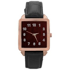 Grunge Brown Abstract Texture Rose Gold Leather Watch  by Celenk