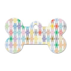 Background Wallpaper Spirals Twirls Dog Tag Bone (one Side)