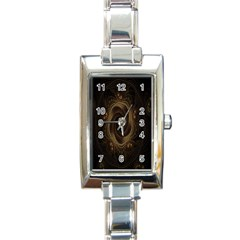 Beads Fractal Abstract Pattern Rectangle Italian Charm Watch by Celenk