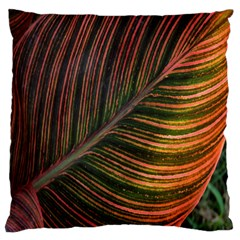 Leaf Colorful Nature Orange Season Large Cushion Case (one Side)