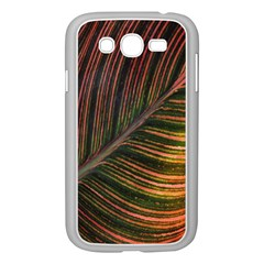 Leaf Colorful Nature Orange Season Samsung Galaxy Grand Duos I9082 Case (white) by Celenk