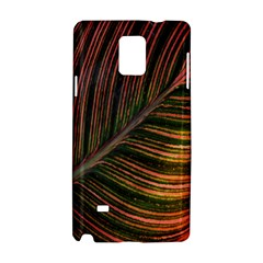 Leaf Colorful Nature Orange Season Samsung Galaxy Note 4 Hardshell Case by Celenk