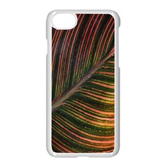 Leaf Colorful Nature Orange Season Apple Iphone 7 Seamless Case (white) by Celenk