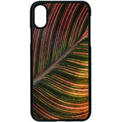 Leaf Colorful Nature Orange Season Apple Iphone X Seamless Case (black) by Celenk