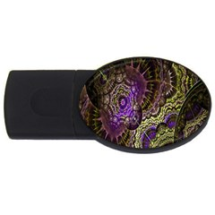 Abstract Fractal Art Design Usb Flash Drive Oval (4 Gb) by Celenk